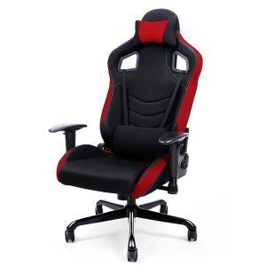 Die Besten Bürostühle - Songmics RCG03R Bürostuhl