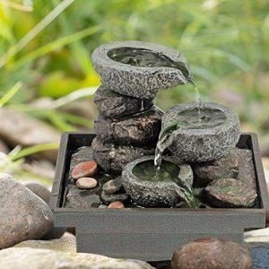 Bestes Preis-Leistungsverhältnis - Pajoma Zimmerbrunnen Floating Stones