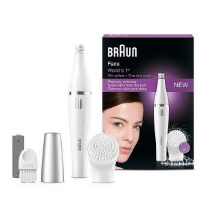 Bestes Preis-Leistungsverhältnis - Braun Face Gesichtsepilierer und Gesichtsreinigungsbürste 810