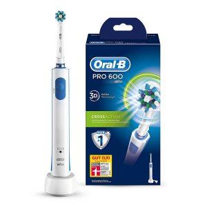 Bestes Preis-Leistungsverhältnis - Oral-B Pro 600 CrossAction Elektrische Zahnbürste