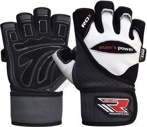 Beste Leistung -RDX Rindsleder Fitness Handschuhe